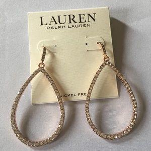 Ralph Lauren Rose Gold and Diamond Earrings